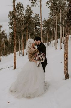 Snow-covered, Self Solemnizing Elopement in Breckenridge, CO - Snow-Covered, Winter Elopement in Breckenridge, CO Snow Wedding, Winter Wonderland Wedding, Elope Wedding, Wedding Couples, Wedding Ceremony, Dream Wedding, Elopement Wedding, Elopement Dress, Christmas Wedding
