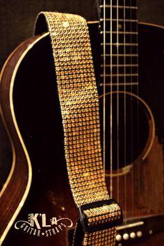 Gold Guitar Strap by KLASTRAPS on Etsy