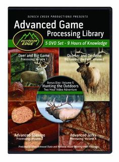 Outdoor Edge AP101 Advanced Game Processing DVD Library Volumes 14 with Nine Hours of Home Processing Knowledge Plus 2Hour Bonus Hunting DVD -- Learn more by visiting the image link-affiliate link. #KnivesAndTools