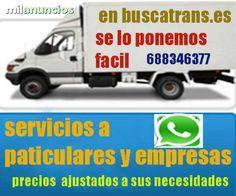 . Punt verd gratis y seguro de mercancias visitanos Y LO COMPROBARA (www.buscatrans.es) realizamos toda clase de mudanzas con los mejores precios del mercado disponemos de todo tipo de vehiculos y materiales para el cuidado de sus pertenencias 688346377+ whatsapp.. sergio