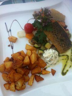 Hotel Fürberg, St. Gilgen am Wolfgangsee - Grillteller mit Fisch