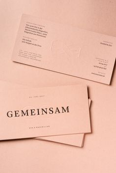 Wedding invitation – Gemeinsam on Behance