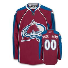 a0151de751a Avalanche Personalized Authentic Red NHL Jersey (S-3XL) Custom Hockey  Jerseys, Nhl