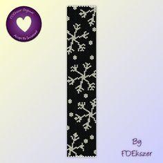 Peyote Pattern / Loom pattern for bracelet: Let it Snow - PDF - buy 2 get 1 free mix and match offer - bp158. $6.50, via Etsy.