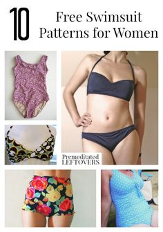 10 patrones libres del traje de baño para las mujeres, incluyendo los patrones…