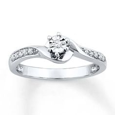 Diamond Promise Ring 1/15 ct tw Round-cut Sterling Silver Stock number: 023415209