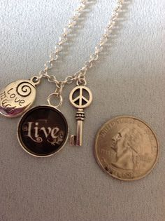 Live Love Laugh charm necklace on Etsy, $10.00