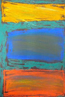 Kindergarten art pastels Mark Rothko color