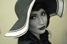 Black and White 40's Glamour Makeup Tutorial