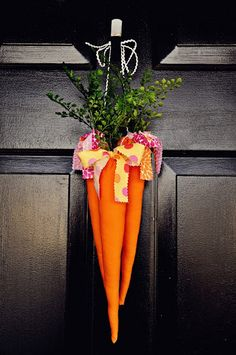 Easter Carrots for the front door!