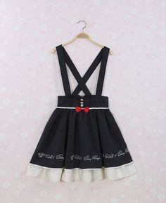 Amave* embroidery suspenders skirt