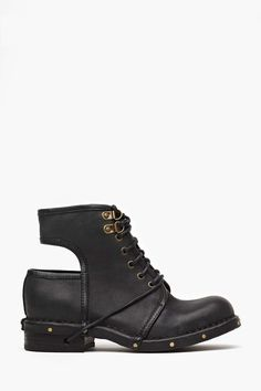 Jeffrey Campbell Rosie Cutout Combat Boot   Shop Let's Get Physical at Nasty Gal