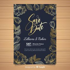 Elegant wedding invitation card template | Free Vector #Freepik #freevector #flower #wedding #wedding-invitation #floral