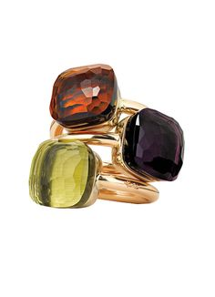 Pomellato Rings via wmagazine: Love the colors. #Rings #Pomellato #wmagazine