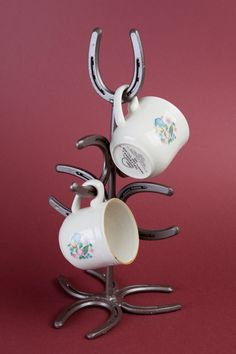 Horseshoe Mug Tree- rack western, southwestern, cowboy, cowgirl, ranch by LizzyandMe on Etsy https://www.etsy.com/listing/91890907/horseshoe-mug-tree-rack-western