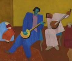 Milton Avery (American, 1885-1965), Music Makers, 1947. Oil on canvas, 36 x 41 3/4 in/ (90.2 x 106.1 cm)