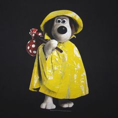 Rare 1989 Wallace and Gromit T-Shirt Yellow Raincoat Size XL