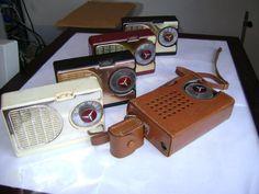Radios de pilha dos anos 50/60