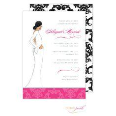 Diva Multi-Cultural Bridal Shower Invitation by Modern Posh