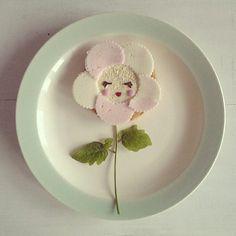 Little #flower #lunch #kids