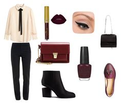 Senza titolo #19 by angiel-i on Polyvore featuring moda, H&M, Chloé, Alexander Wang, Yves Saint Laurent, LORAC and OPI