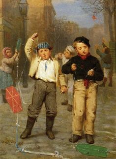 View Kite fliers by John George Brown on artnet. Browse upcoming and past auction lots by John George Brown. Creation Photo, Kite Flying, Brown Art, Animation, Precious Children, Victorian Art, Art Auction, American Artists, British Artists