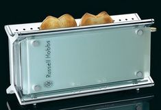 Russell Hobbs 10617 glass bread 2 slice toaster crumpets VERY RARE!!
