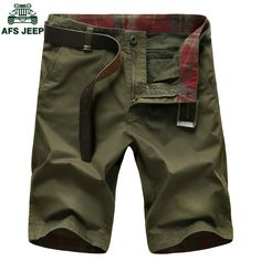 AFS JEEP Plus Size 30-50 Mens Military Cargo Shorts Brand New Army Camouflage Shorts Men Cotton Loose Work Casual Short Pants