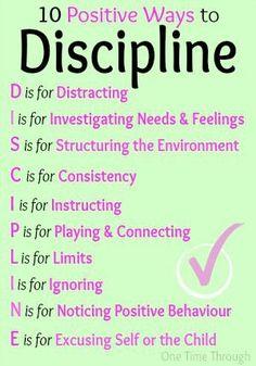 10 Positive Ways to Discipline
