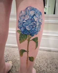 hydrangea flower tattoo | Hydrangea Tattoo on Pinterest | Watercolor tattoos, Delicate flower ...