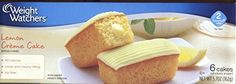 Nice  Weight Watchers Lemon Creme Cake 3 Pack of 6 Cakes Each
