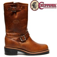 "Quantity special offer! CHIPPEWA #1901M50 11INCH PLAIN TOE ENGINEER BOOTS TAN RENEGADE ""E wise"" made in U.S.A Vibram SOLE Chippewa..."