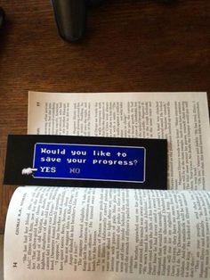 Geeky bookmark on UFunk #Bookmark #Save #FinalFantsay
