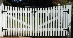 white picket driveway gate   white picket victorian gate for driveway - Google Search