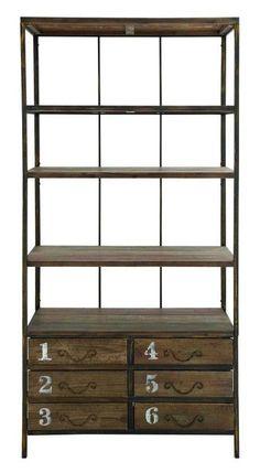 """Wood 78"""" Etagere Bookcase"""