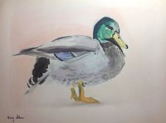 Watercolour Painting Duck Original Art Christmas Gift Home or Bar by MAG ZEBEN http://stores.ebay.co.uk/magzeben/