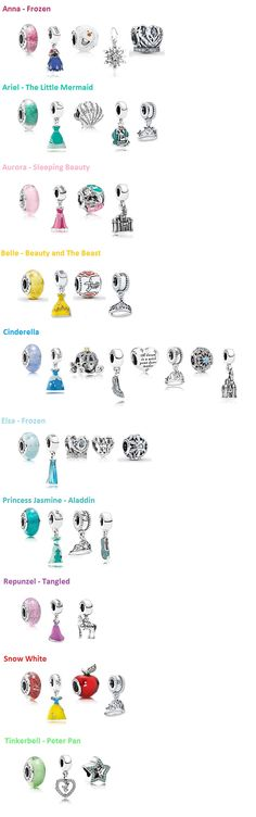 Disney Princess Pandora Beads