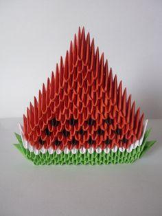 3D orgami watermelon by xxMystic-Heartxx