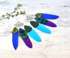 My original hand made feathers earings
