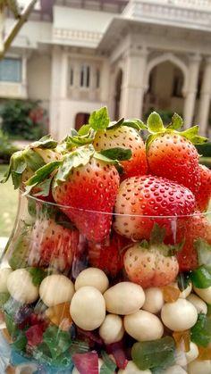 Strawberries as in props..