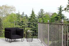 FARGO design Diego Sferrazza outdoor armchair and IO26 side table