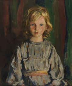 """Wee Maureen,"" Robert Henri, oil on canvas, 24 x Pennsylvania Academy of the Fine Arts. American Realism, American Artists, Spanish Gypsy, Ashcan School, Robert Henri, Portrait Art, Les Oeuvres, New Art, Art For Kids"