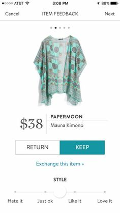I love the kimonos and I love this color. I feel like this could be very versatile.