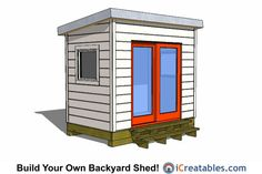 6x8 modern studio shed plans