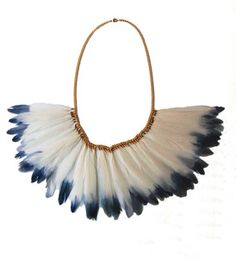 Dip-Dyed Feathered Necklace