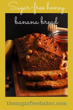 If you love banana bread, this recipe is perfect for you. It adds a fair amount of honey to the dough, and makes a delicious sugar-free honey banana bread! No Sugar Banana Bread, Healthy Banana Bread, Banana Bread Recipes, Sugar Free Honey, Recipes With Yeast, Buns, Breads, Heaven, Desserts