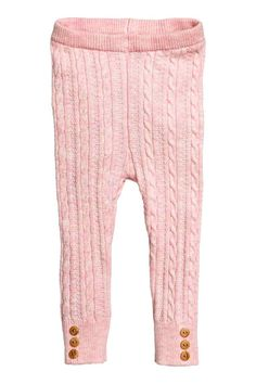 Cable-knit leggings: Cable-knit leggings in a soft cotton blend with an…