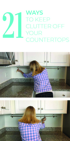 These DIY ideas to declutter your kitchen countertops are genius. I am not a fan of clutter, so any organization systems I can find help me so much! A clutter free home is a happy home. Organizing Hacks, Hacks Diy, Organization Hacks, Tupperware Organizing, Organising Tips, Deep Cleaning Tips, Cleaning Hacks, Cleaning Checklist, Cleaning Supplies