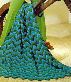 Chevron and Ripples | Free Crochet Blanket Patterns
