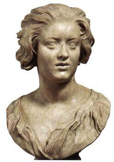 BERNINI, Gian Lorenzo.  Bust of Costanza Bonarelli  c. 1635.  Marble, height 70 cm.  Museo Nazionale del Bargello, Florence
